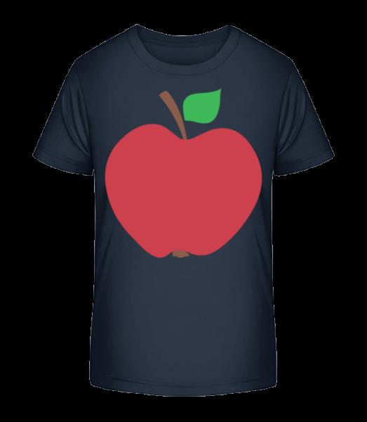 Jablko - Detské Premium Bio tričko - Namořnická modrá - Napřed