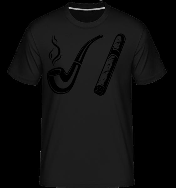 Trubka a doutníky - Shirtinator tričko pro pány - Černá - Napřed