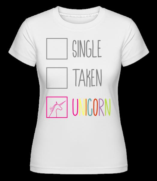 Singl Unicorn -  Shirtinator tričko pro dámy - Bílá - Napřed