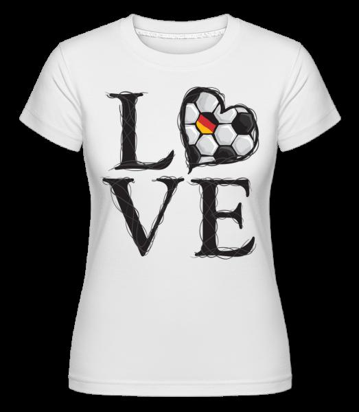 Football Love Germany -  Shirtinator tričko pro dámy - Bílá - Napřed