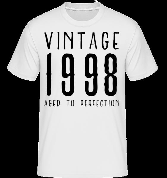Vintage 1998 ve věku k dokonalosti - Shirtinator tričko pro pány - Bílá - Napřed
