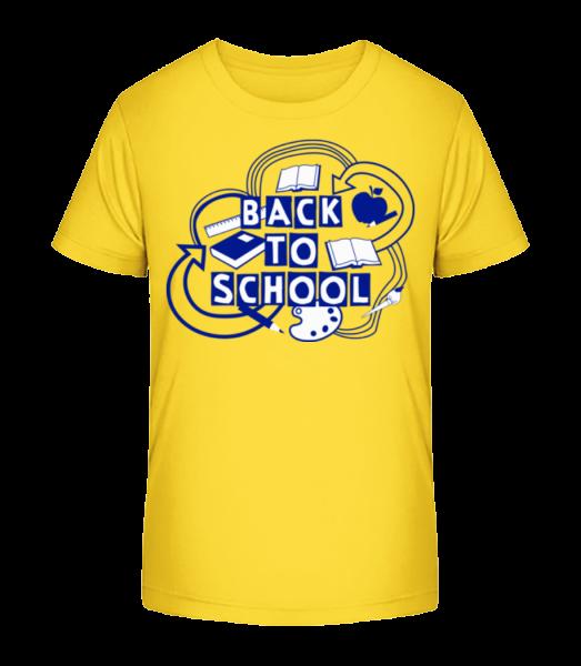 Zpátky do školy - Detské Premium Bio tričko - Žlutá - Napřed