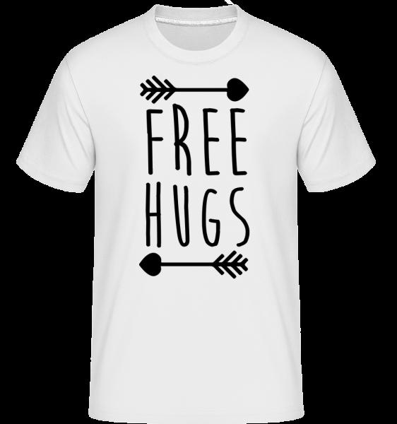 Free Hugs - Shirtinator tričko pro pány - Bílá - Napřed
