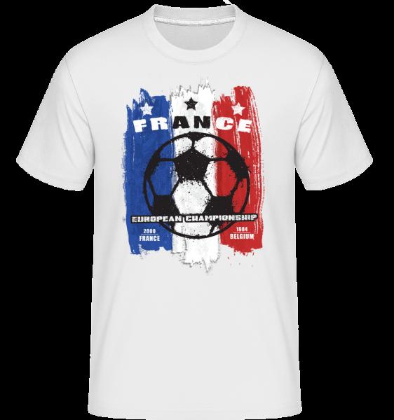 Football France - Shirtinator tričko pro pány - Bílá - Napřed