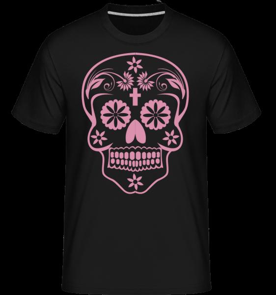 Día de los Muertos Skull -  Shirtinator tričko pro pány - Černá - Napřed
