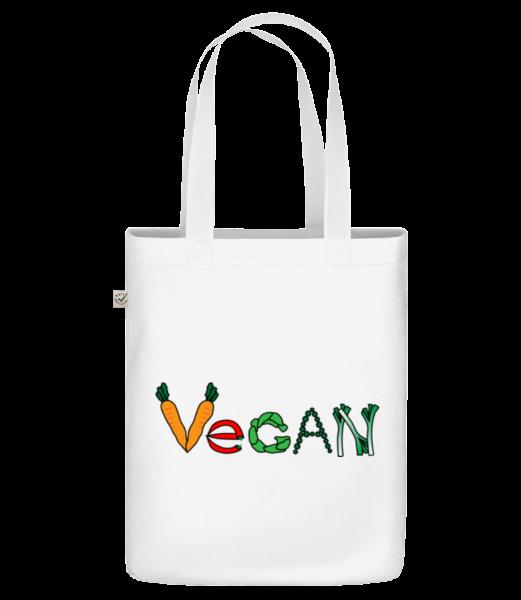 """vegan Comic - Organická taška """"Earth Positive"""" - Bílá - Napřed"""