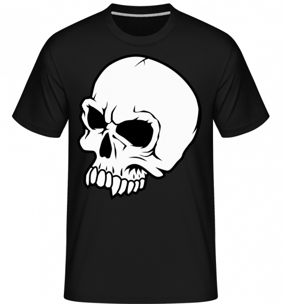mrtvý Skull -  Shirtinator tričko pro pány - Černá - Napřed