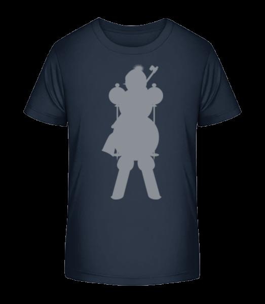 Ski Snowman Gray - Detské Premium Bio tričko - Namořnická modrá - Napřed