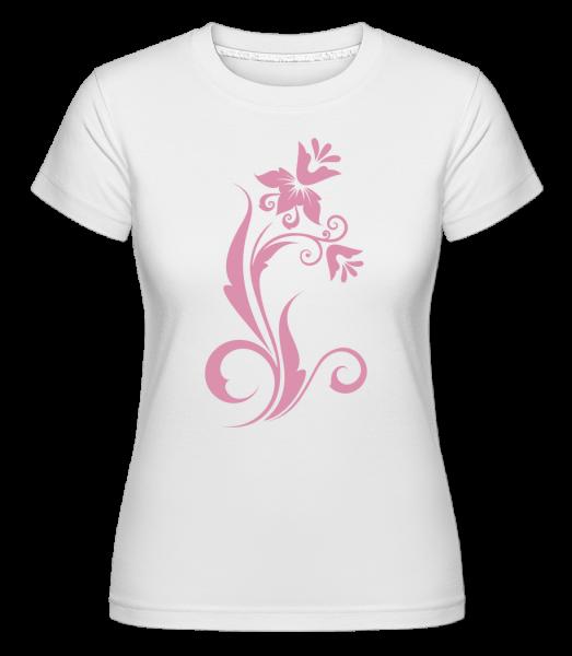 Flower Ornament Pink - Shirtinator tričko pro dámy - Bílá - Napřed