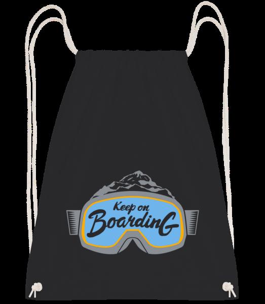 Keep On Boarding - Drawstring batoh se šňůrkami - Černá - Napřed