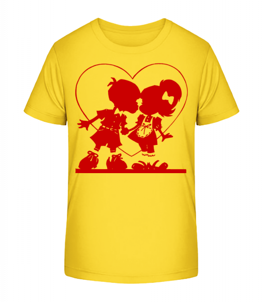 Děti In Love - Detské Premium Bio tričko - Žlutá - Napřed