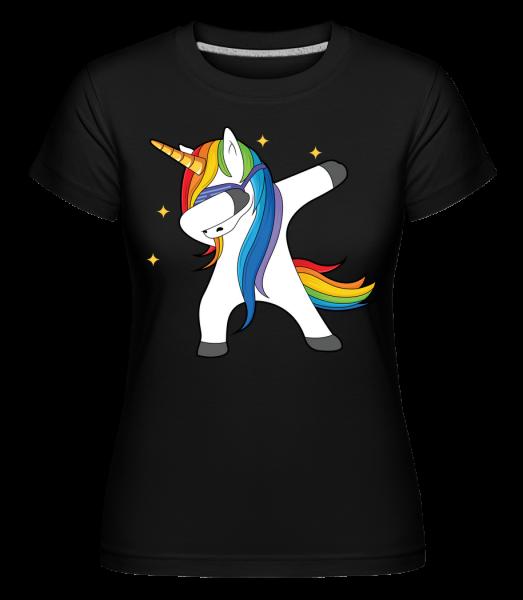 Party Einhorn - Shirtinator tričko pro dámy - Černá - Napřed