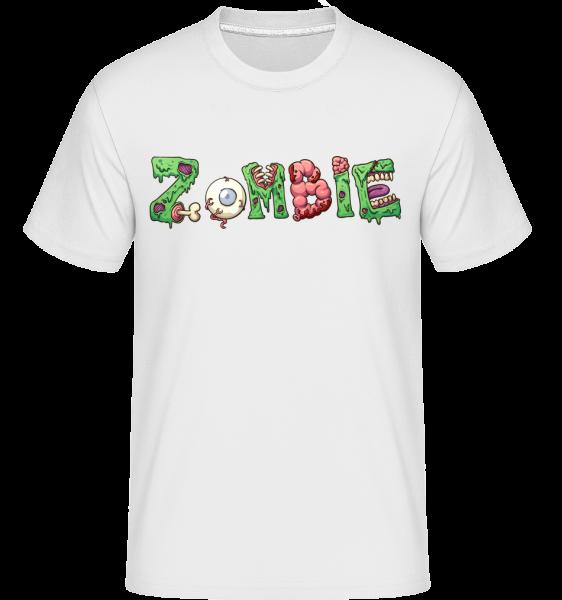 Zombie Font -  Shirtinator tričko pro pány - Bílá - Napřed