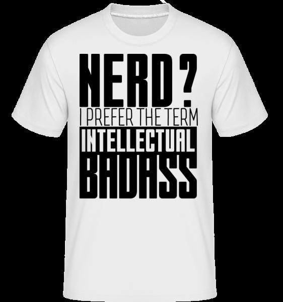Blbeček? Drsňák -  Shirtinator tričko pro pány - Bílá - Napřed