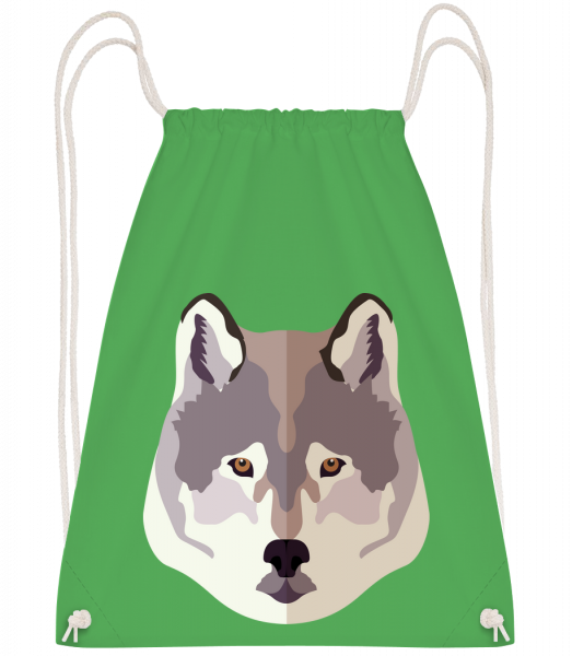 Wolf Comic Shadow - Drawstring batoh se šňůrkami - Irish green - Napřed