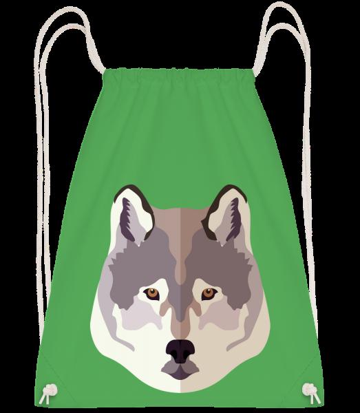 Wolf Comic Shadow - Drawstring batoh se šňůrkami - Irish green - Napřed