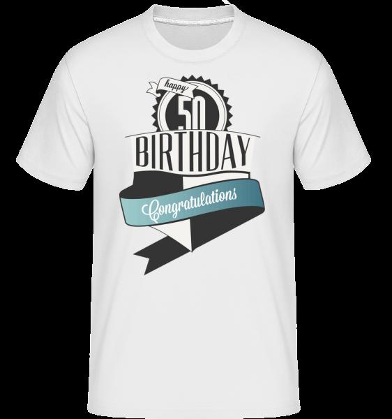 50 Birthday Congrats -  Shirtinator tričko pro pány - Bílá - Napřed