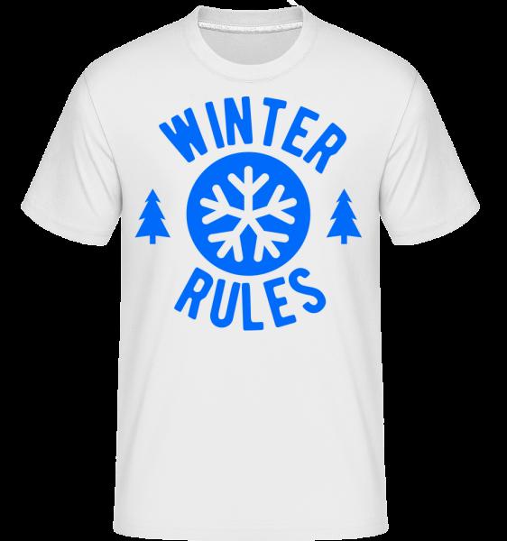 Zimní Pravidla -  Shirtinator tričko pro pány - Bílá - Napřed