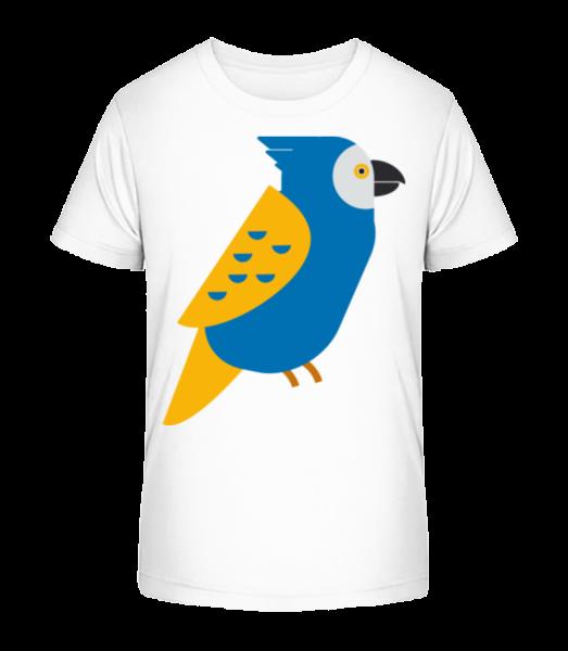 Parrot Picture - Detské Premium Bio tričko - Bílá - Napřed