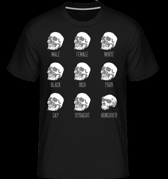 kocovinu Skull -  Shirtinator tričko pro pány - Černá - Napřed