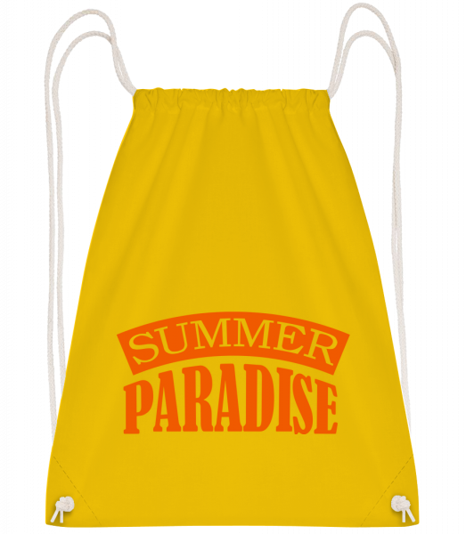 Summer Paradise Orange - Drawstring batoh se šňůrkami - Žlutá - Napřed