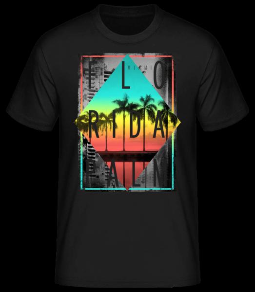 Florida Palm - Basic T-Shirt - Černá - Napřed