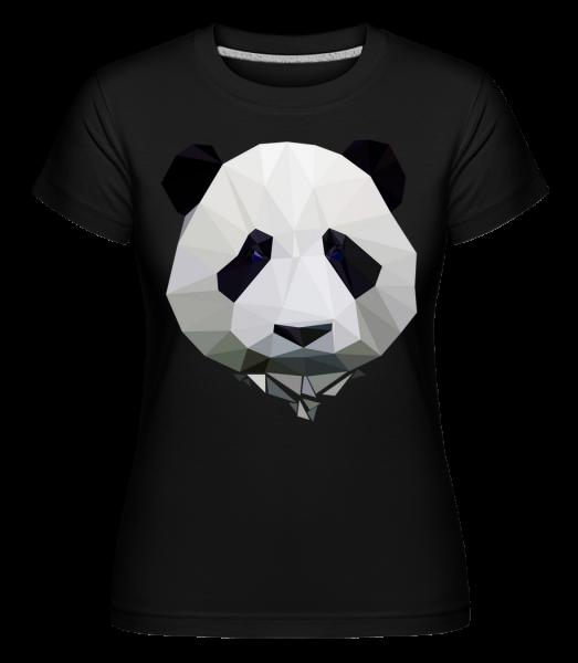 Polygon Panda -  Shirtinator tričko pro dámy - Černá - Napřed