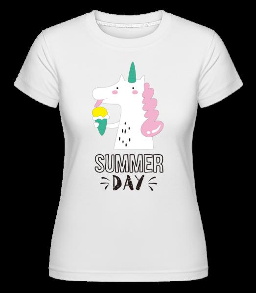 Summer Day Unicorn - Shirtinator tričko pro dámy - Bílá - Napřed