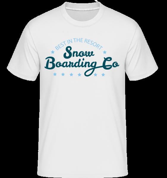 Snowboarding Co. Sign - Shirtinator tričko pro pány - Bílá - Napřed