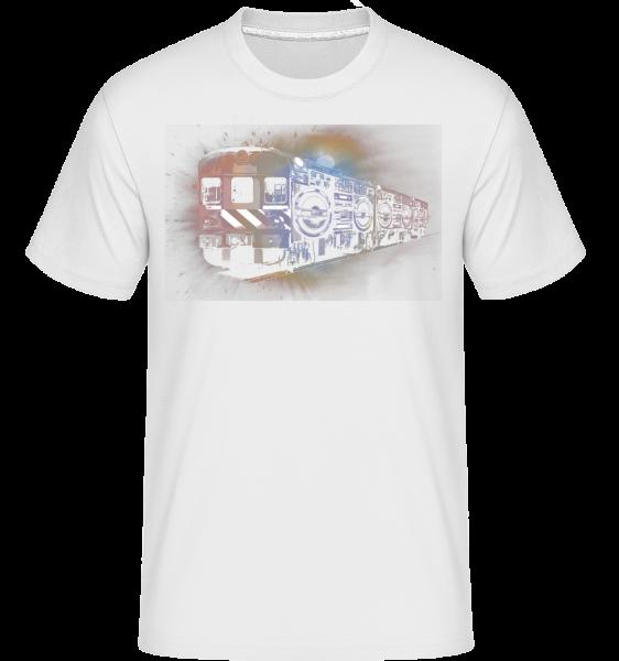 Ghetto Blaster Train -  Shirtinator tričko pro pány - Bílá - Napřed