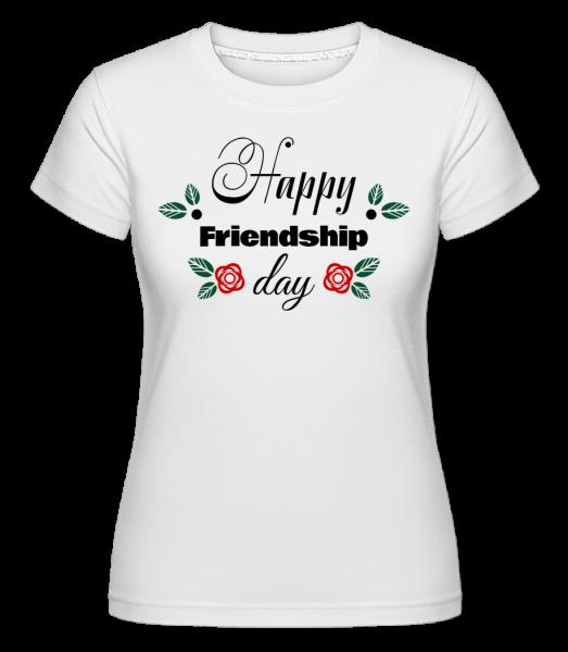 Šťastný Den přátelství -  Shirtinator tričko pro dámy - Bílá - Napřed