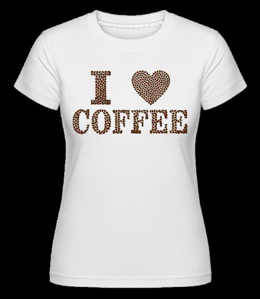 Miluji kafe - Shirtinator tričko pro dámy - Bílá - Napřed