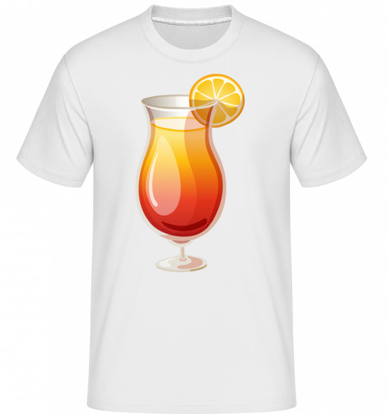 Cocktail Sex On The Beach -  Shirtinator tričko pro pány - Bílá - Napřed