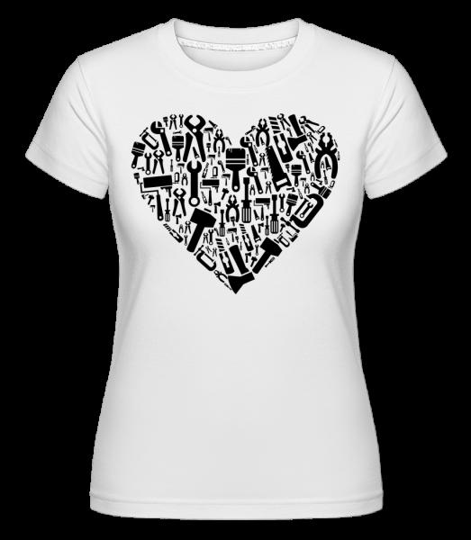 Láska DIY Heart -  Shirtinator tričko pro dámy - Bílá - Napřed