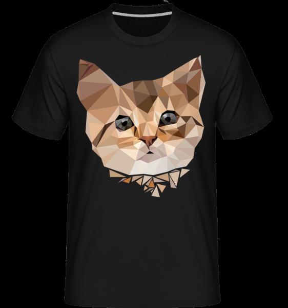 Polygon Cat -  Shirtinator tričko pro pány - černá - Napřed