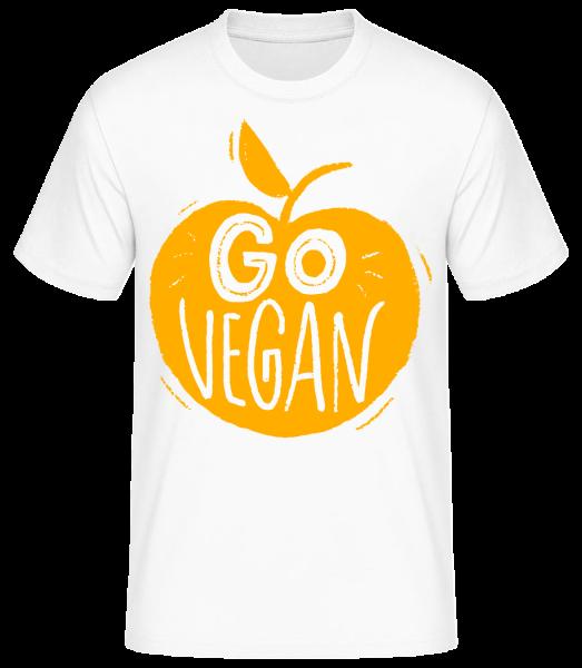 Go Vegan - Basic T-Shirt - Bílá - Napřed