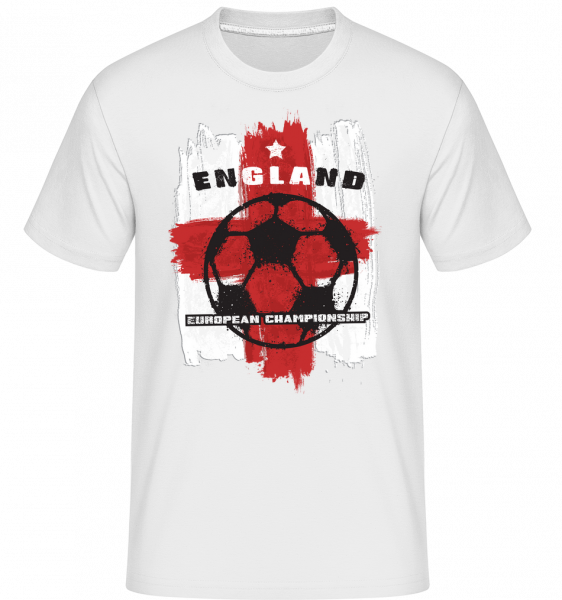 fotbalová Anglie -  Shirtinator tričko pro pány - Bílá - Napřed
