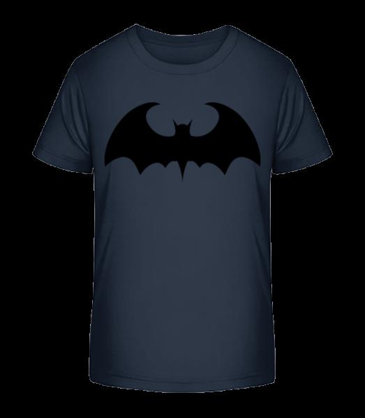 Netopýr - Detské Premium Bio tričko - Namořnická modrá - Napřed