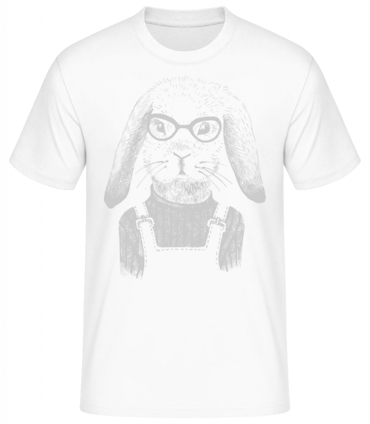 Hipster Rabbit - Pánské basic tričko - Bílá - Napřed