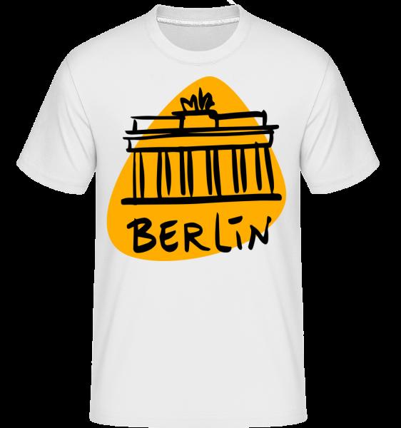 Berlin Sign - Shirtinator tričko pro pány - Bílá - Napřed