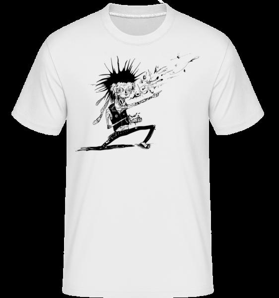 Zombie Musician -  Shirtinator tričko pro pány - Bílá - Napřed