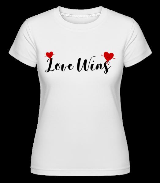 Láska vítězí -  Shirtinator tričko pro dámy - Bílá - Napřed
