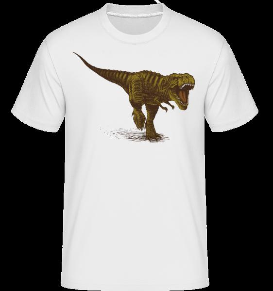 T rex -  Shirtinator tričko pro pány - Bílá - Napřed