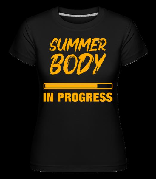 Léto tělo in Progress -  Shirtinator tričko pro dámy - Černá - Napřed