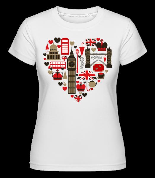 London Láska Heart -  Shirtinator tričko pro dámy - Bílá - Napřed