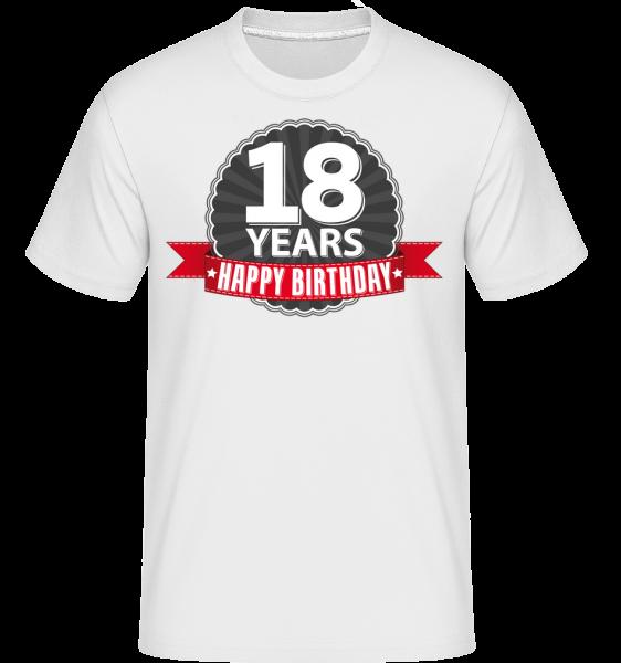 18 let Narozeniny -  Shirtinator tričko pro pány - Bílá - Napřed