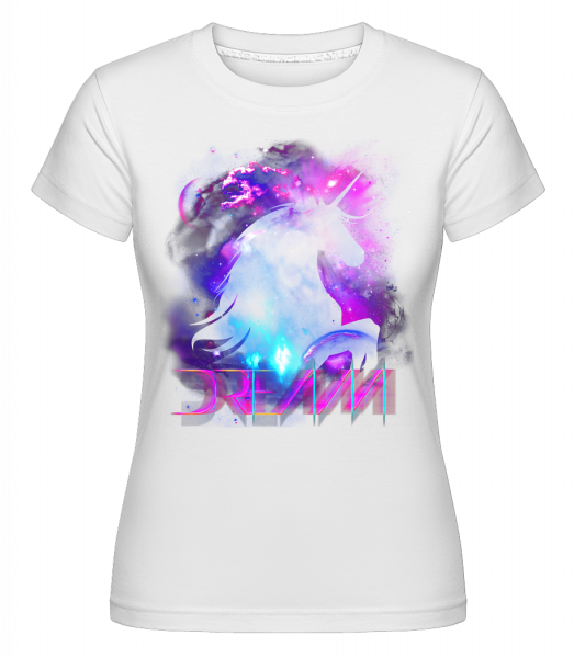 Dream Unicorn -  Shirtinator tričko pro dámy - Bílá - Napřed