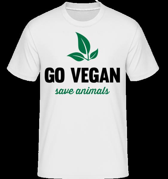 Go Vegan zachránit zvířata - Shirtinator tričko pro pány - Bílá - Napřed