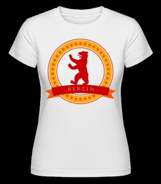 Berlin Bear Icon -  Shirtinator tričko pro dámy - Bílá - Napřed