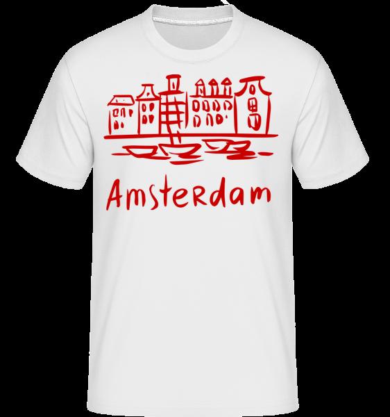 Amsterdam v čínském stylu -  Shirtinator tričko pro pány - Bílá - Napřed